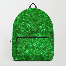 Glitter Green Image Backpack
