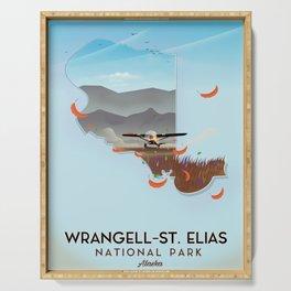 Wrangell-St. Elias National Park Alaska poster Serving Tray
