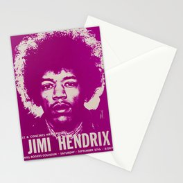 1969 Jimi Hendrix Concert Handbill Poster, Will Rogers Colosseum, Ft. Worth, Texas Stationery Cards