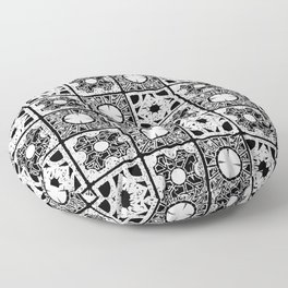 Lament BW Floor Pillow