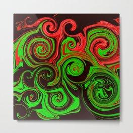 Spiral Swirl Abstract Art / GFTswirl028 Metal Print