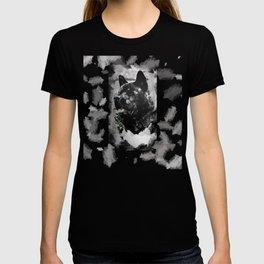 Akita Black Love Ink Portrait T-shirt