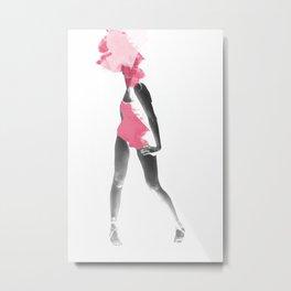 Fashion model Metal Print