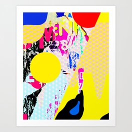 The River Flow - Abstract Pop Art Painting & Comic Kunstdrucke