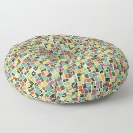 Square On Mosaic Floor Pillow