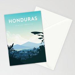Honduras travel poster Stationery Cards