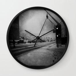 February in Montreal / Montréal en février Wall Clock