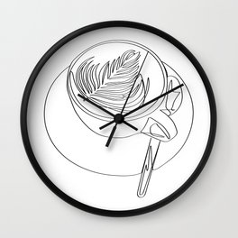 """"""" Kitchen Collection """" - Cappuccino Design Wall Clock"""