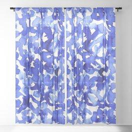 Energy Blue Sheer Curtain