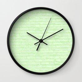 Key Lime Brick Wall Clock