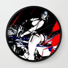 biker's girlfriend2 Wall Clock