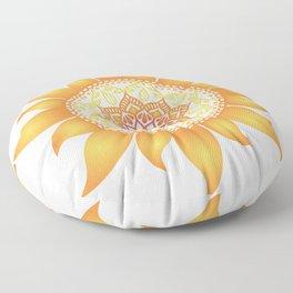 Warm Mandala Sun Floor Pillow