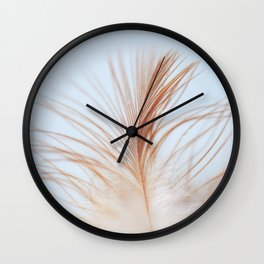 FEATHER cream look - animal colletion Wall Clock