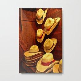 Luckenbach Hats Metal Print