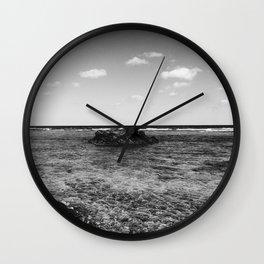 B&W Okinawa, Japan Beach Ocean View Wall Clock