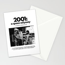 2001: A Space Odyssey Behind the Scenes Movie Poster Stationery Cards