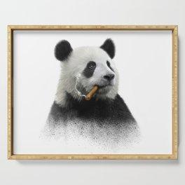 Panda contemplator Serving Tray