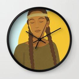 Native American Girl Wall Clock