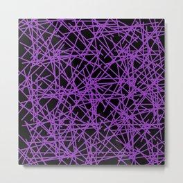 Purple Scream 80s Memphis Design Abstract Pattern Metal Print