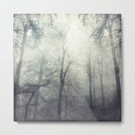 twistEd - foggy forest Metal Print