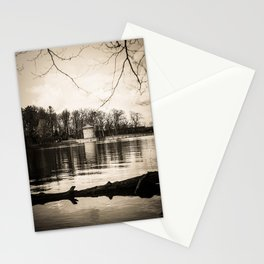 Möhne Reservoir Lake Tower sepia Stationery Cards