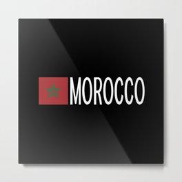 Morocco: Moroccan Flag & Morocco Metal Print