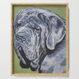 Neapolitan Mastiff dog art portrait from an original painting by L.A.Shepard Serving Tray