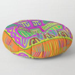 San Blas Indian Kuna Abstract Floor Pillow