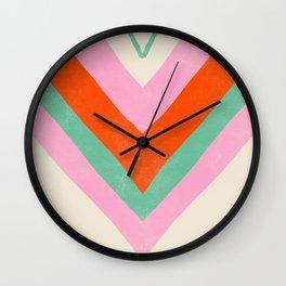 lima, vintage chevron stripes Wall Clock