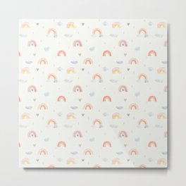 Rainbow love pattern Metal Print