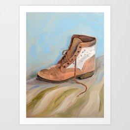 Shoe made for walking Art Print