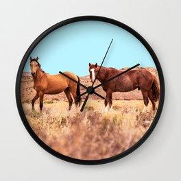 Horses #society6 #decor #buyart Wall Clock
