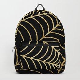 Spiderweb   Gold Glitter Backpack