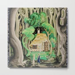 1925 Classical Masterpiece 'Hansel and Gretel by Brothers Grimm' by Kay Nielsen Metal Print