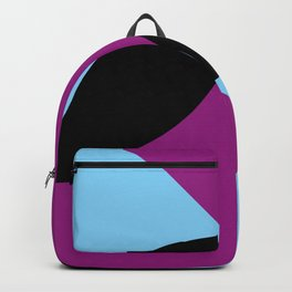 Two 3d seeds being thrown strongly, in a purple space. Backpack