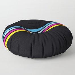 80's Love Retro Stripes Floor Pillow