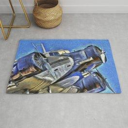 Junkers Ju 52 Van Gogh Rug