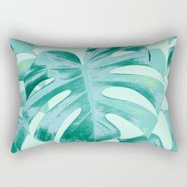 Tropical Monstera Leaves Dream #4 #tropical #decor #art #society6 Rectangular Pillow