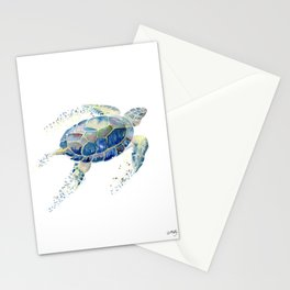 Lone Sea Turtle Watercolor  Stationery Cards