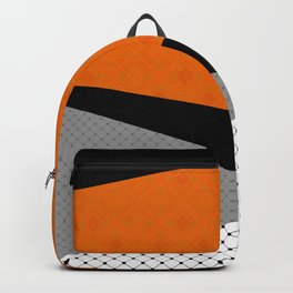 Abstract black orange painting . Backpack