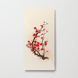 Oriental plum blossom in spring 012 Metal Print