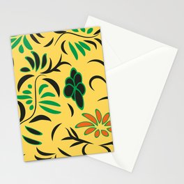 pattern with flowers and butterflies Stationery Cards