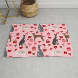 Italian greyhound love cupcakes valentines day dog breed gifts Rug