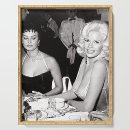 'Best Envy' Iconic Hollywood Starlet Black and White Photograph Serving Tray