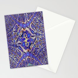 Enigma Necklace digital art pattern Stationery Cards