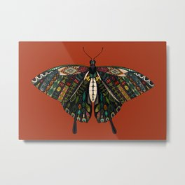 swallowtail butterfly terracotta Metal Print