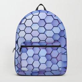 Hexagon blue pantone Backpack