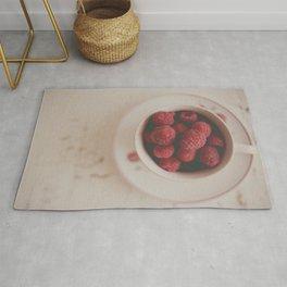 Raspberries Photograph #raspberryprint #foodprint #fooddecor #kitchendecor Rug