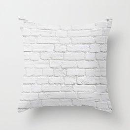 White Brick Wall Throw Pillow