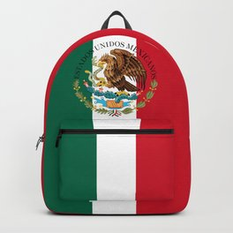 Mexican flag augmented scale with Coat of Arms Backpack